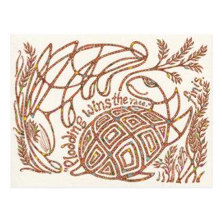 Postal Eje 10 de los supervivientes: La tortuga y las