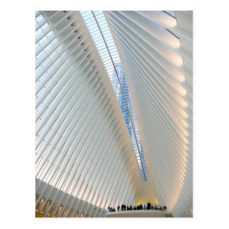 Postal Eje del transporte del World Trade Center, NY
