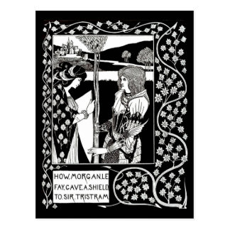 Postal Ejemplo-Aubrey Beardsley 14 del Postal-Vintage