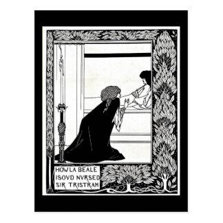 Postal Ejemplo-Aubrey Beardsley 21 del Postal-Vintage