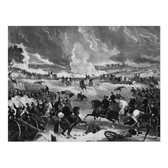 Postal Ejemplo de la batalla de Gettysburg