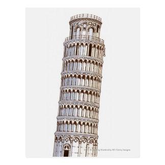 Postal Ejemplo de la torre de Pisa