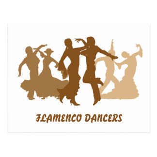 Postal Ejemplo de los bailarines del flamenco