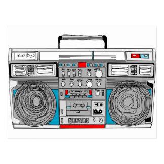 Postal ejemplo del boombox 80s