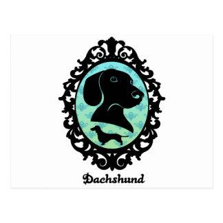 Postal Ejemplo enmarcado del Dachshund
