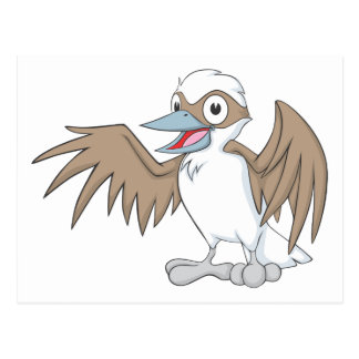 Postal Ejemplo feliz de Kookaburra