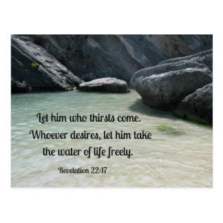 Postal El 22:17 de la revelación lo deja que venga la