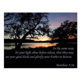 Postal El 5:16 de Matthew dejó su brillo ligero