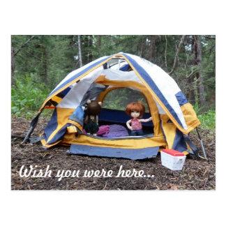Postal El acampar con Miranda