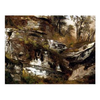 Postal El acantilado rocoso de Catskills - Durand