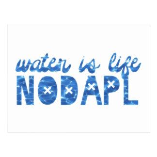 Postal El agua es la vida NODAPL