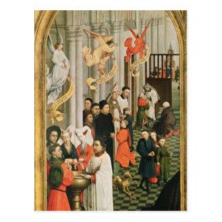 Postal El Altarpiece de siete sacramentos