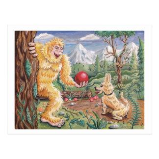 Postal El amigo de Bigfoot