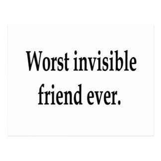 Postal El amigo invisible peor nunca