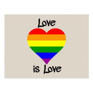 Postal El amor es amor