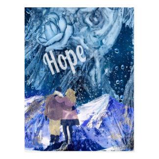 Postal El amor es la única esperanza en nuestra vida