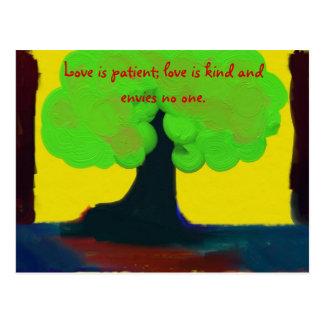 Postal El amor es paciente