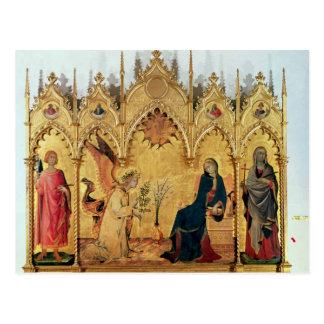 Postal El anuncio con St Margaret y el St.