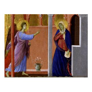 Postal El anuncio de Duccio