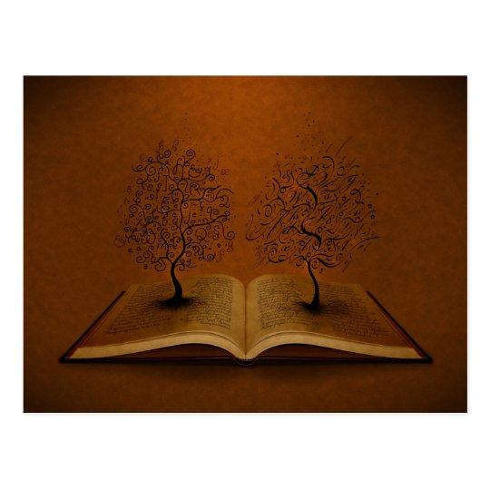 Postal El árbol de GiddyUp y el árbol de la escritura de