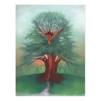 Postal El árbol de la cura