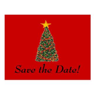 Postal ¡El árbol de navidad, ahorra la fecha!