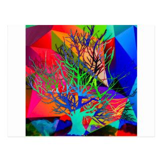 Postal El árbol del amor hace nuestro arco iris