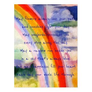 Postal El arco iris desea (la alternativa 3)