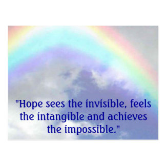 """Postal el arco iris, """"esperanza ve el invisible, siente"""
