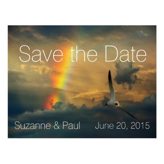 Postal El arco iris soña reserva moderna la fecha