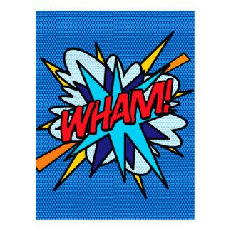 Postal ¡El arte pop del cómic WHAM!