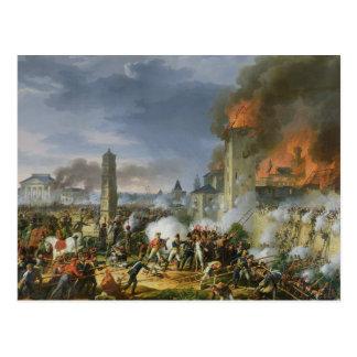 Postal El ataque y el tomar de Ratisbona