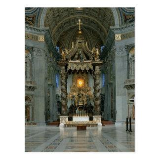Postal El Baldacchino, el alto altar y la silla