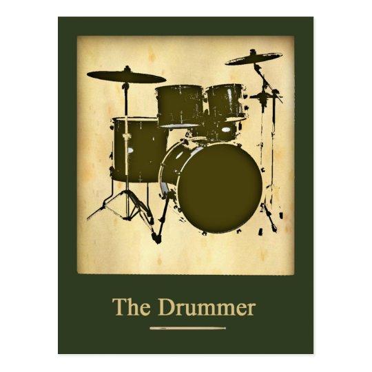 Postal el batería de la banda