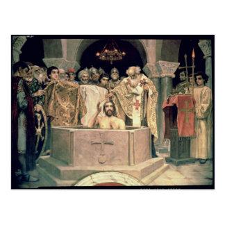 Postal El bautizo de duque magnífico Vladimir, 1885-96