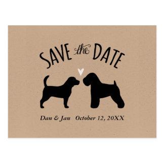 Postal El beagle y el boda de trigo ahorran la fecha