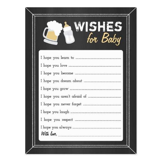 """Postal El """"bebé está elaborando cerveza"""" deseos"""