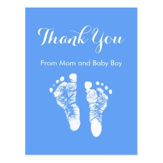 Postal El bebé le agradece las huellas recién nacidas