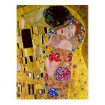 Postal El beso de Gustav Klimt, el viejo Art Nouveau
