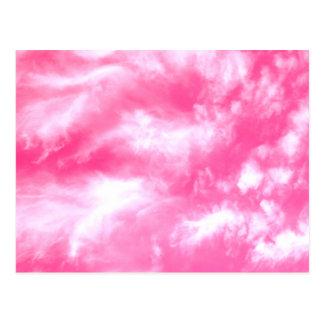 Postal El blanco se nubla el cielo rosado