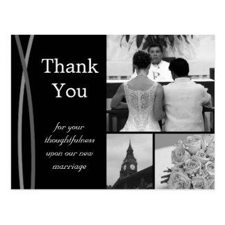 Postal El boda adaptable le agradece cardar imágenes de