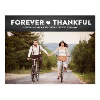 Postales de agradecimiento de boda