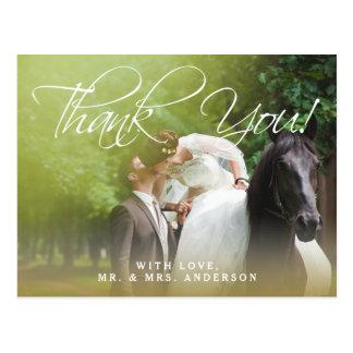Postal El boda clásico de la foto de la escritura el | le