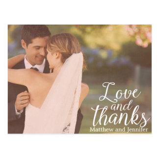 Postal El boda de la foto del amor y de las gracias el |