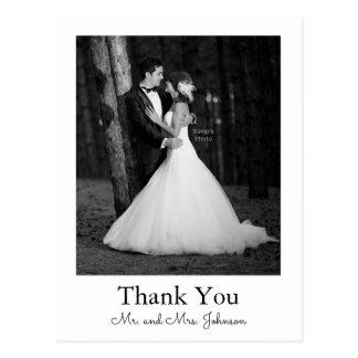 Postal El boda de la foto le agradece