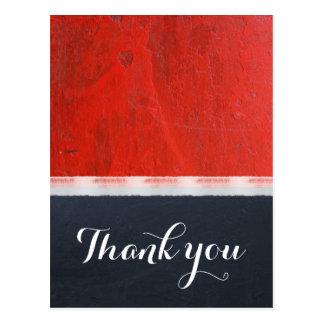 Postal El boda moderno de la pintura roja del esmalte le