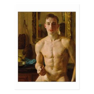 Postal El boxeador de Konstantin Somov