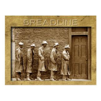 Postal El Breadline esculpe, monumento del FDR, DC