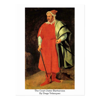 Postal El bufón Barbarossa de la corte de Diego Velázquez