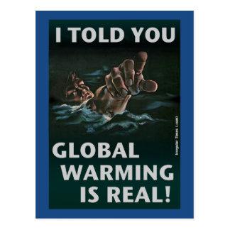 Postal El calentamiento del planeta es real